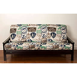 Siscovers Parks And Rec Futon Cover In Brown