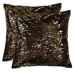 Torino™ Quatro 18-Inch Throw Pillows in Gold/Chocolate (Set of 2)