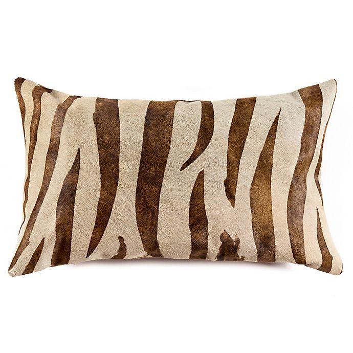 Awesome Torino Cowhide Pillow In Zebra Brown Bed Bath Beyond Uwap Interior Chair Design Uwaporg