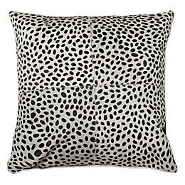 Torino Cheetah 18-Inch Square Cowhide Throw Pillow in Brown