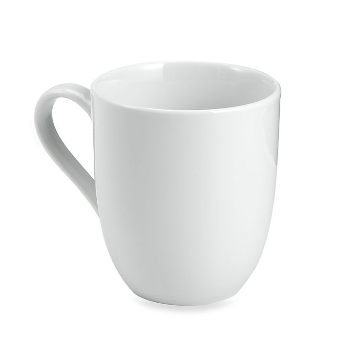 Alternate image 1 for Everyday White® by Fitz and Floyd® Rim Barrel Mugs (Set of 4)
