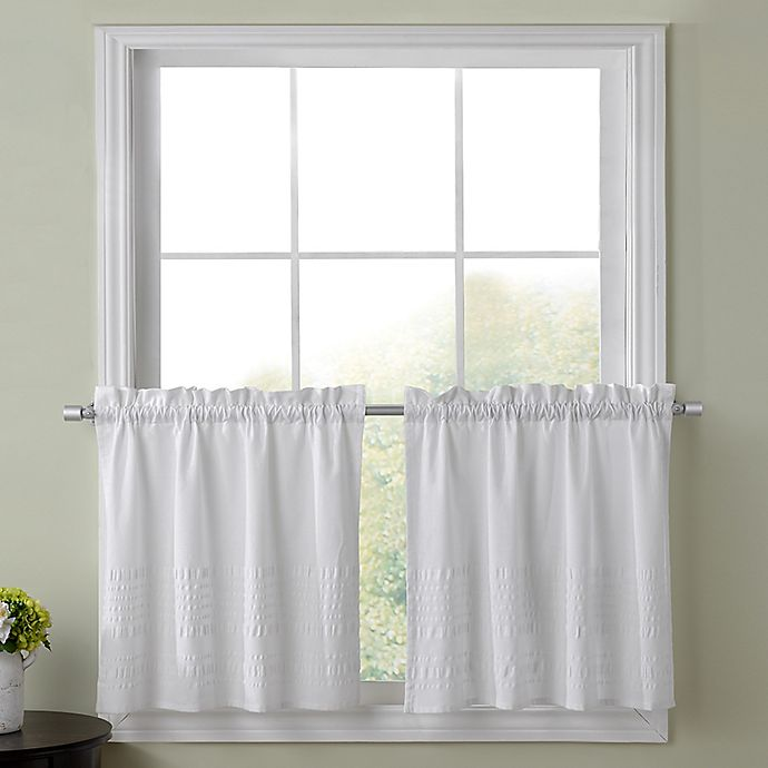 Alternate image 1 for Sophia 45-Inch Kitchen Window Curtain Tier Pair in White