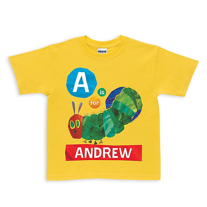 Alternate image 1 for Very Hungry Caterpillar Alphabet Shirt in Yellow