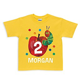 Very Hungry Caterpillar Birthday Shirt in Yellow