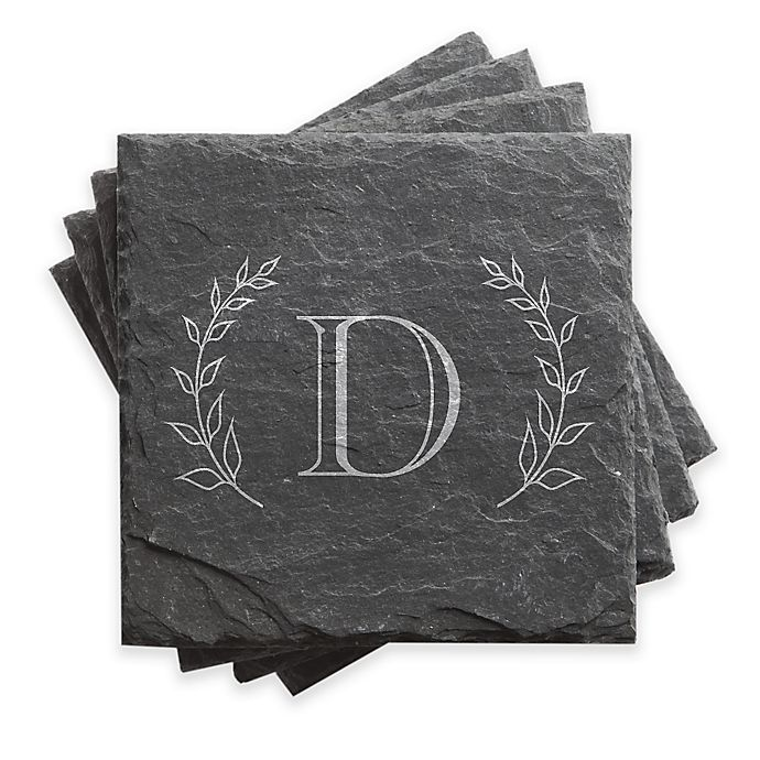 Alternate image 1 for Grand Initial Slate Coasters (Set of 4)