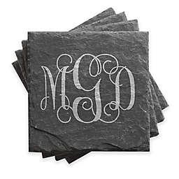 Monogram Slate Coasters (Set of 4)
