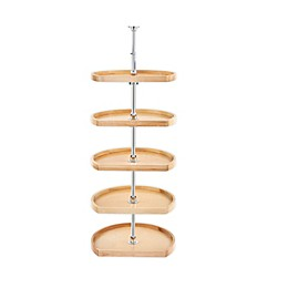 Rev-A-Shelf® D-Shape 22-Inch Lazy Susan 5-Shelf Set in Natural