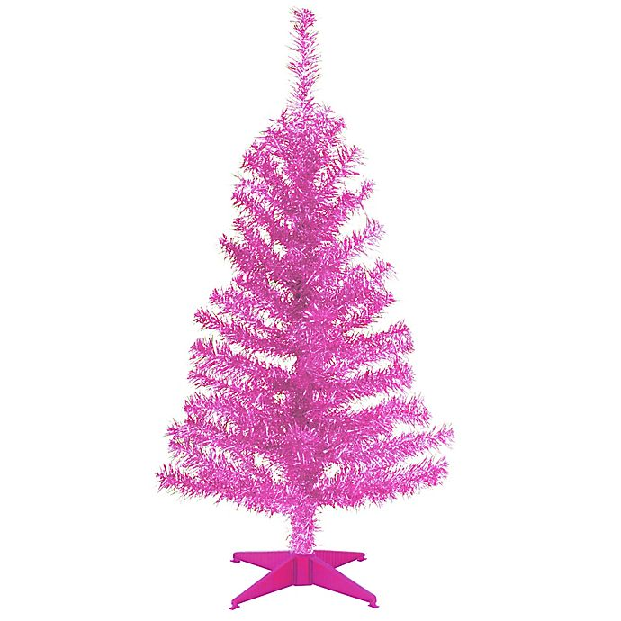 Alternate image 1 for National Tree Company Tinsel Christmas Tree in Pink