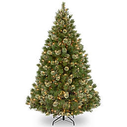 National Tree Company 7.5-Foot Wispy Willow Grande Medium Pre-Lit Christmas Tree with Clear Lights