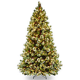 7.5-Foot Wintry Pine Medium Christmas Tree with Clear Lights