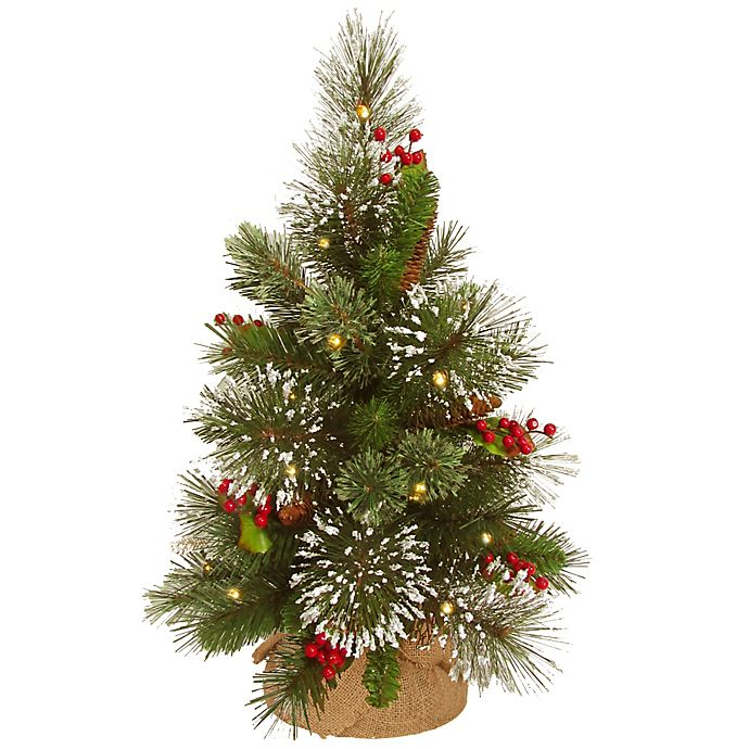 "Where To Buy A Nice Artificial Christmas Tree: Buy 18"" Wintry Pine Pre-Lit Christmas Tree With Battery"