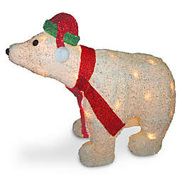 National Tree Company® 18.5-Inch Pre-Lit Polar Bear Lawn Decor with 35 Lights