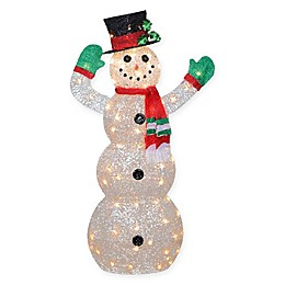 National Tree Company 48-Inch Pre-Lit Waving Snowman with Clear Lights