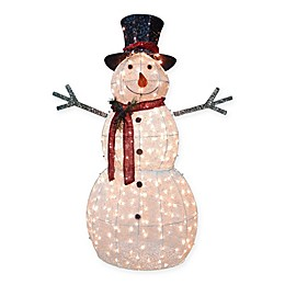 National Tree Company Pre-Lit Waving Snowman with Clear Lights