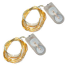 40-Count LED Waterproof Mini Fairy String Lights (Set of 2)