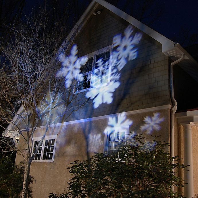 Alternate image 1 for Electric LED Projector Light in White Snowflakes