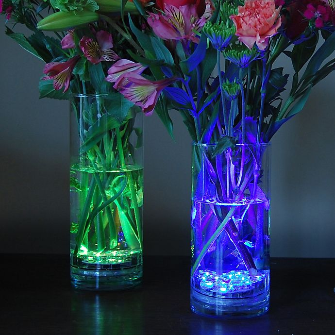 Alternate image 1 for Multi-Color Submersible Battery Operated LED Lights with Remote Control (Set of 2)