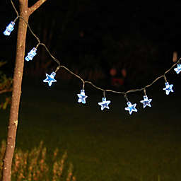 Solar Powered Mini String Lights with  White Stars (30 lights)