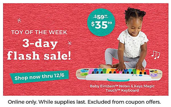 3-day Flash Sale Baby Einstein keyboard $35.99