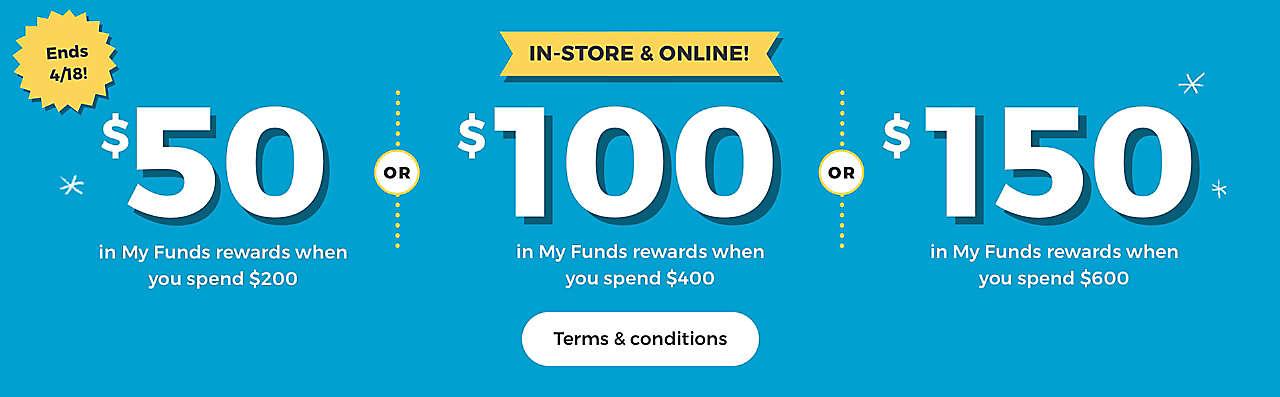 Get at least $50 in rewards!