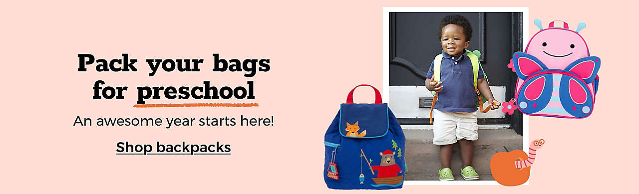 Pack your bags for preschool