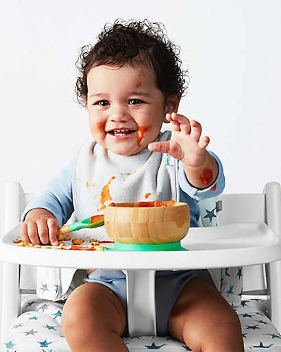 A comfy, convertible high chair is a place to eat—and hang!