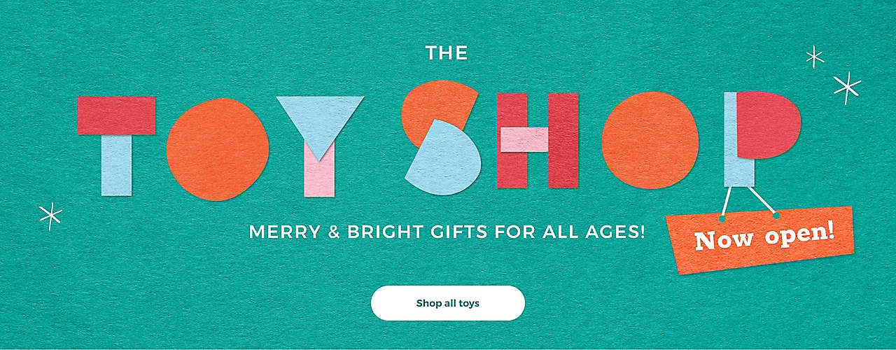 The Toy shop Merry & Bright gifts for all ages