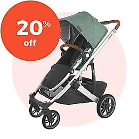 20% off UPPAbaby® CRUZ V2 Strollers