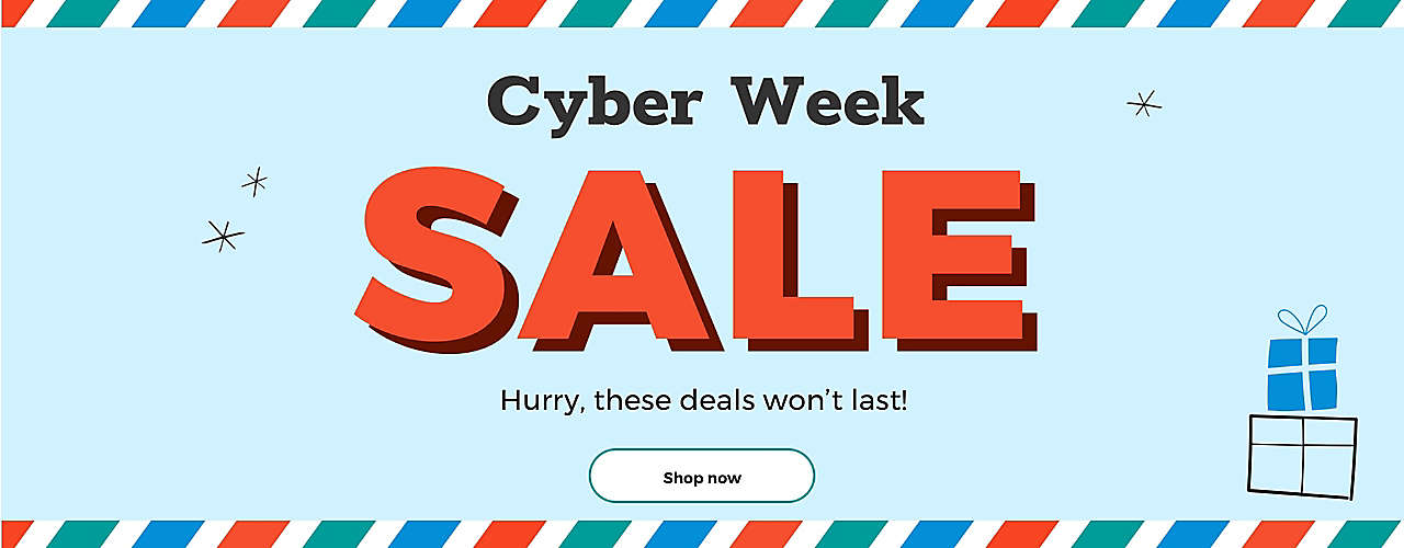 Cyber Week SALE Hurry, these deals won't last! Shop now