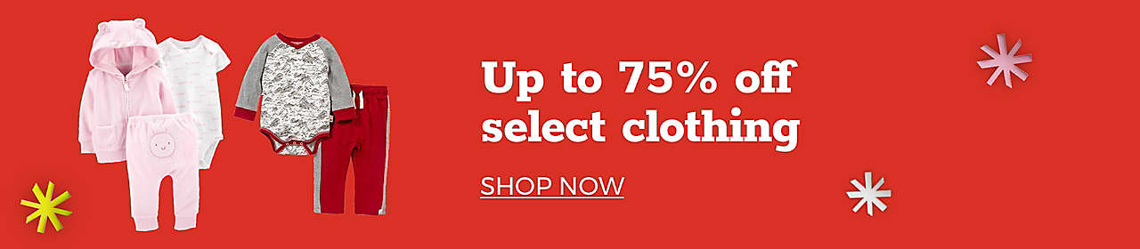 Up to 75% of select clothing