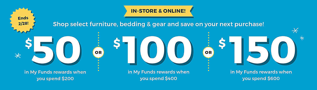 Get $50in My Funds rewards when you spend $200