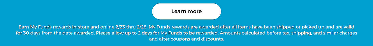 Earn My Funds rewards - Learn More
