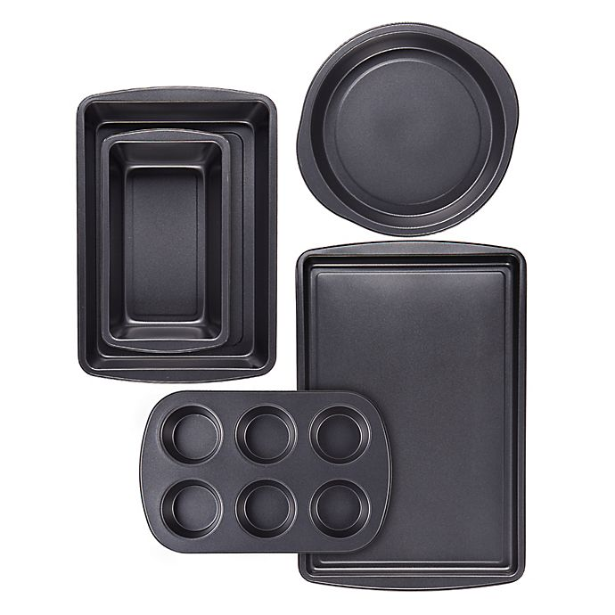 Alternate image 1 for Simply Essential™ 5-Piece Nonstick Carbon Steel Bakeware Set