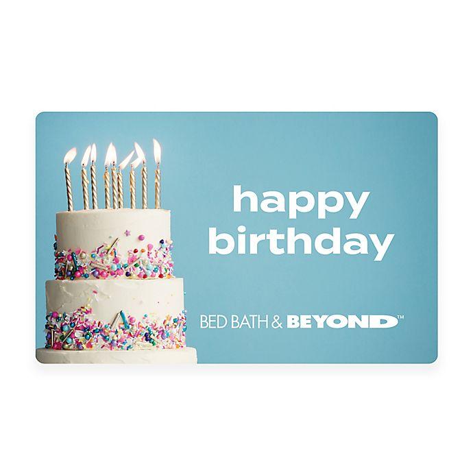 Alternate image 1 for Happy Birthday Cake Gift Card