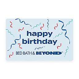 Happy Birthday Ribbons Gift Card