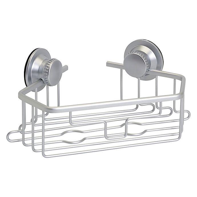 Alternate image 1 for Squared Away™ NeverRust® Aluminum Dual Mount Corner Shower Basket in Satin Chrome