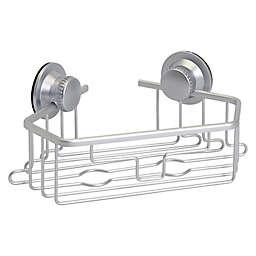 Squared Away™ NeverRust® Aluminum Dual Mount Corner Shower Basket in Satin Chrome