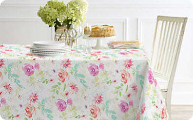 Set a pretty table with sweet spring linens.. Shop Now