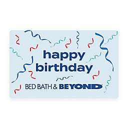 Happy Birthday Ribbons Gift Card