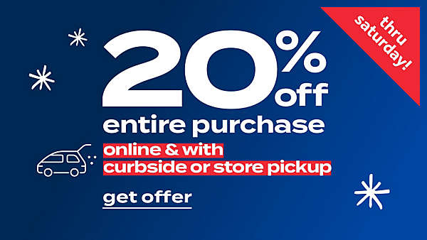 25% off entire purchase BOPIS