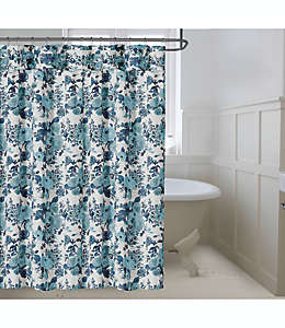 Cortina de baño Bee & Willow™ Home Vintage Rose color azul
