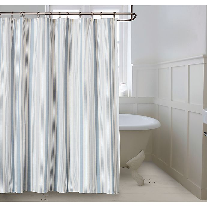 Alternate image 1 for Bee & Willow™ Home Coastal Stripe Shower Curtain