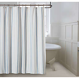 Bee & Willow™ Home Coastal Stripe Shower Curtain in Blue Fog