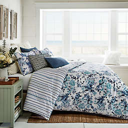 Bee & Willow™ Home Vintage Rose Stripe 3-Piece Duvet Cover Set in Blue Multi