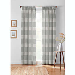 Bee & Willow™ Textured Check Rod Pocket/Back Tab Window Curtain Panel (Single)