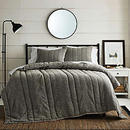 Bee & Willow™ Norwell Waffle 3-Piece King Quilt Set in Charcoal