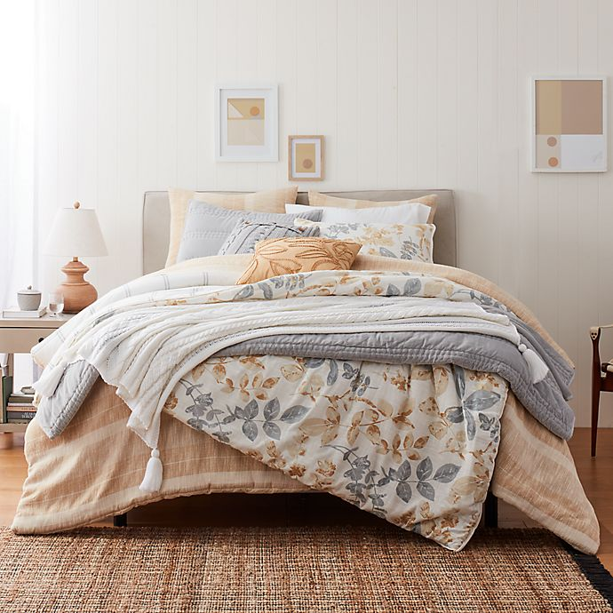 Alternate image 1 for Bee & Willow™ Baneberry 3-Piece Duvet Cover Set in Soft Blue