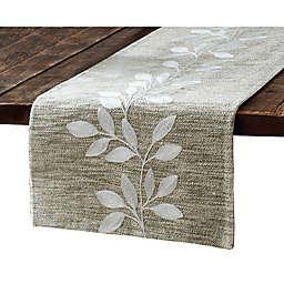 Bee & Willow™ Embroidered Leaf Table Runner in Linen