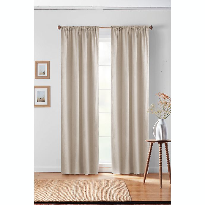 Alternate image 1 for Bee & Willow™ Textured Solid Rod Pocket/Back Tab Window Curtain Panel (Single)