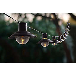 Bee & Willow™ Home Solar 10-Count Metal String Lights in Black